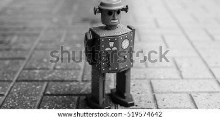 robot toy imagination retro...