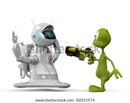 Aliens Robot Robot vs Alien
