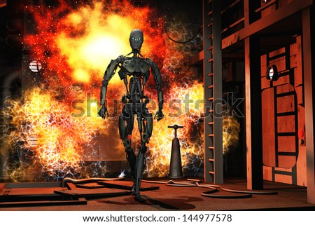 stock-photo-robot-walking-from-explosion-in-science-fiction-complex-144977578.jpg