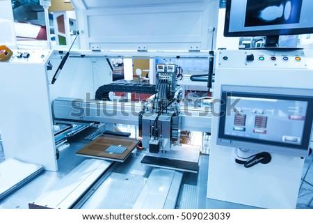 Robotic machine vision system wirh chip - Shutterstock ID 509023039