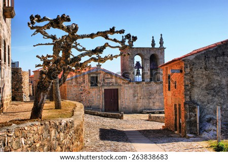 Rocamador church in Castelo Rodrigo, Portugal