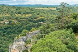 Rocamadour, Occitanie, France: Clifftop view of the Parc Naturel Régional des Causses du Quercy, a regional nature park.