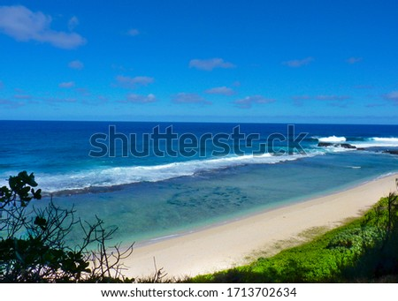 Roche qui pleure, Gris Gris Beach in Mauritius island Foto stock ©