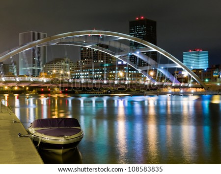 Rochester at night, New York State