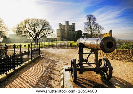 Rochester Castle in Kent UK.