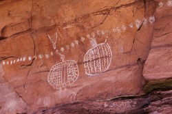 Rock art pictographs in the southwest