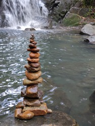 Rock Balancing or stone balancing is an art, discipline, or hobby in which rocks are naturally balanced on top of one another in various positions without the use of adhesives,