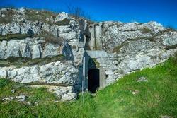 Rock church from X century. South Bulgaria