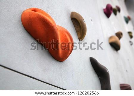 Rock climbing wall