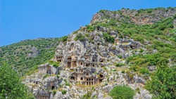 Rock-cut tombs in Myra (Demre, Turkey)