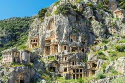 Rock-cut tombs in Myra (Demre), Turkey
