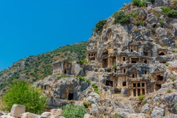 Rock-cut tombs in Myra, Lycian tombs of ancient kings