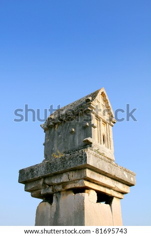 rock-cut tombs of the ancient city of Turkey Xanthos