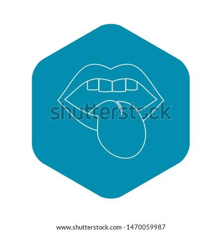 Rock emblem icon. Outline illustration of rock emblem icon for web