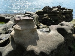 Rock erode by sea and wind