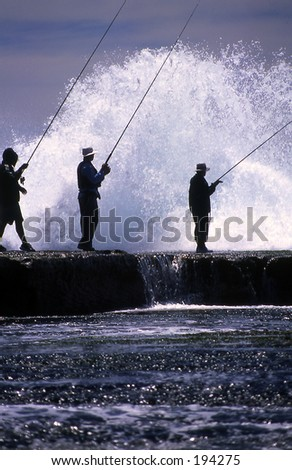 Rock fishermen. #194275