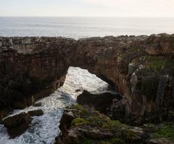 Rock formation Boca do Inferno Hells mouth sea atlantic ocean erosion cliff natural bridge near Cascais Lisbon Portugal