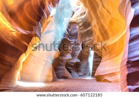 Rock formation in Antelope Canyon in Page, Arizona, USA