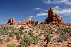 Rock formation in Arches NP / Utah