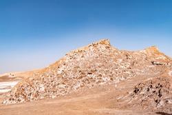 Rock formation in el Valle de la Luna (Valley of the Moon) near San Pedro de Atacama, Chile