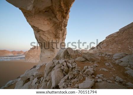 Rock formation in the white desert