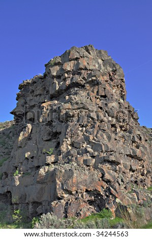 Rock formation near the Snake River in Twin Falls, Idaho