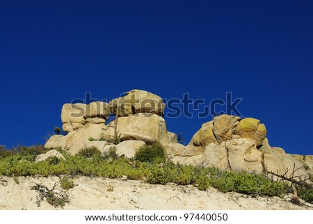 Rock formation on the way to Mount Lemmon, Coronado National Forest, Arizona