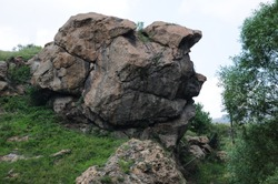 Rock formation that resembles a human profile