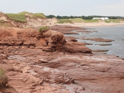 Rock formations at the Thunder Cove. PEI.