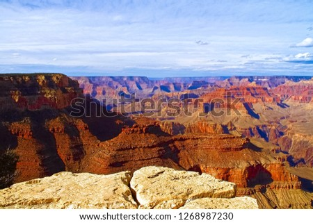 Rock formations in a canyon, Grand Canyon, Grand Canyon National Park, Arizona, USA.