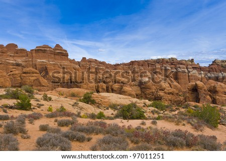 Rock Formations in Arches National Park, Utah, USA