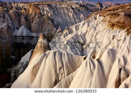 Rock formations in Capapdocia, Turkey