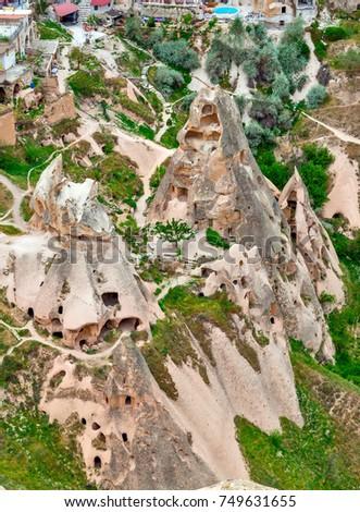 Rock formations in Cappadocia, Anatolia, Turkey. Goreme national park. #749631655