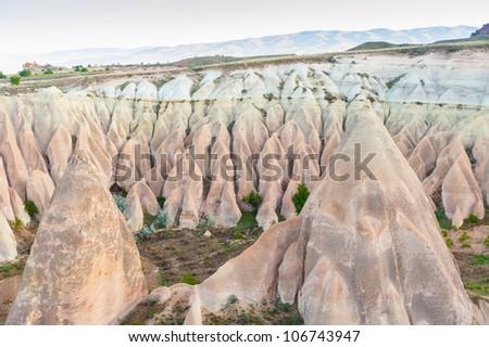 Rock Formations in Goreme Valley - Cappadocia, Turkey
