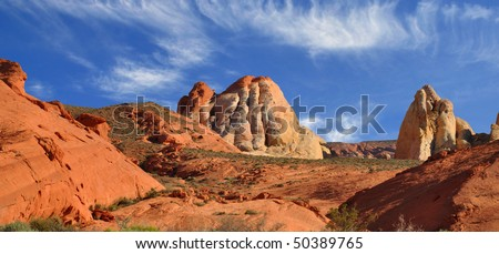 Rock formations in Valley of Fire, State Park.