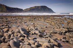 rock formations, Makarori Beach, Gisborne, East Coast, New Zealand