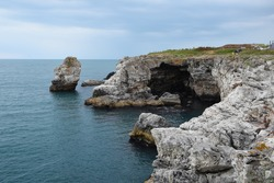 Rock formations on the Black Sea coast near Tyulenovo village, Bulgaria