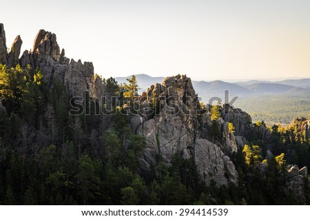 rock formations overlook at...