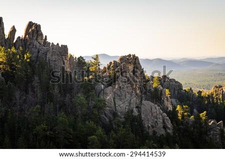 Rock Formations Overlook at Black Hills