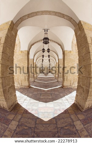 Rock gallery in the old city of Jerusalem