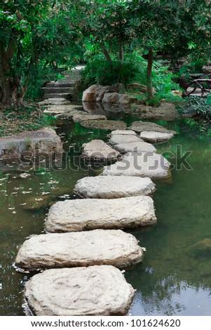 Rock garden in the park of Thailand