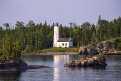 Rock Harbor Lighthouse, Isle Royale National Park, Michigan, USA