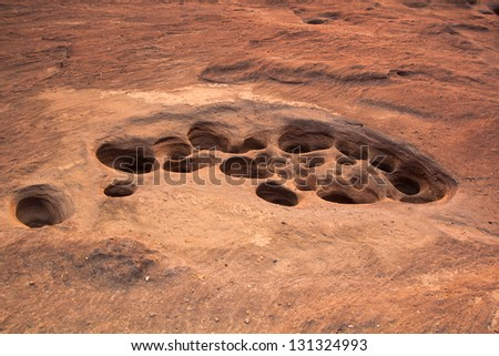 Rock holes Stone View Sam-Pan-Bok Grand Canyon in thailand
