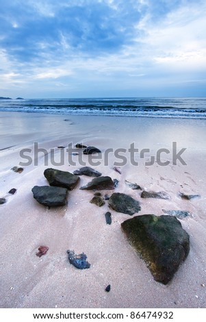 rock in smooth - stock photo