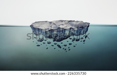 Rocks Water Rock Island Floating in Water