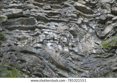 Rock layers - a colorful formations of rocks stacked over the hundreds of years. Interesting background with fascinating texture. #785321551
