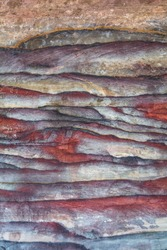 Rock layers - colorful formations of desert rocks. Unique  background with fascinating texture