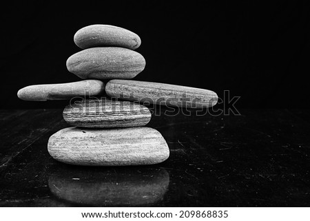 Rock man in Black and White