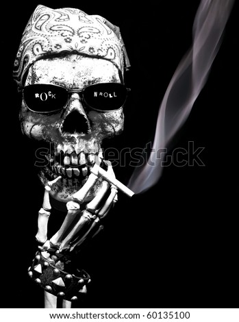 Rock N Roll skeleton