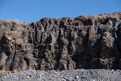rock near ocean on tenerife island